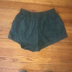 Size small hunter green suede shorts